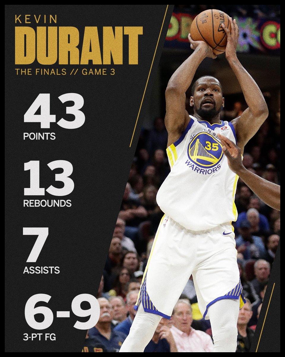 NBA Finals Game III: Kevin Durant Pone A Los Warriors A