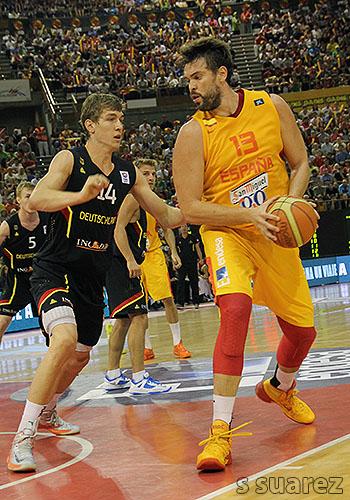 Marc Gasol contra Alemania (Foto: S Suárez)