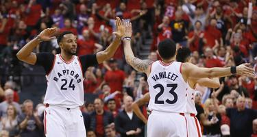 Norman Powell y Fred VanVleet
