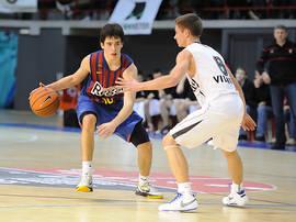 Josep Perez subiendo el balón.<br>Foto: Charly Mula