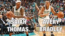 Isaiah Thomas y Avery Bradley.