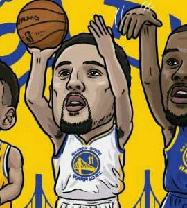 El Big Three de los Warriors.