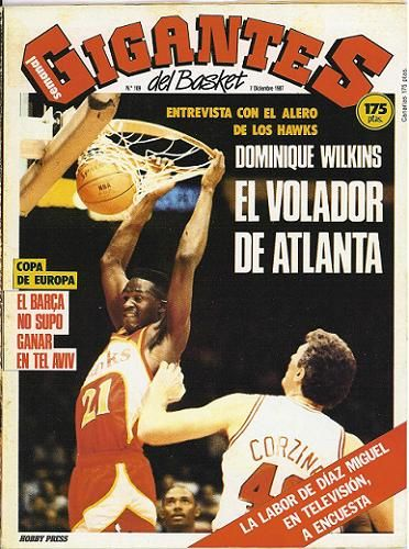 Dominique Wilkins (Foto: Portada Gigantes del Basket).