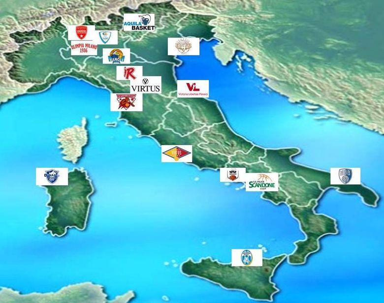 La Serie A en el mapa.