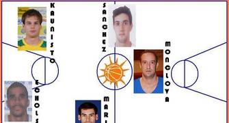 Quinteto de MVP del mes de Noviembre (Foto: Pablo Romero)
