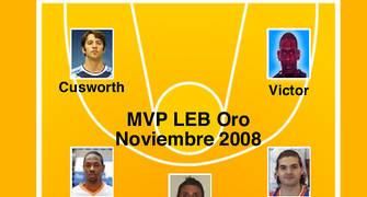 Quinteto ideal de la LEB Oro en el mes de Noviembre (Foto: Pablo Romero)