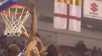 Javi Franco disputando con el Tenerife el play-off de ascenso a ACB (foto javifranco.com)