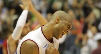 Rayshawn Terry celebra la primera victoria del Xacobeo Blu:Sens en ACB (ACB PHOTO/J.Marqués)