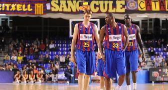 Las nuevas incorporaciones  Lorbek , N´dong y el mismo Mickeal están dando fruto en el equipo Blaugrana. (Foto:dnavarro.es)