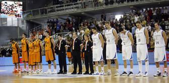 Minuto de silencio en recuerdo del padre de Óscar Quintana y José Quintana (presidente de Baloncesto Fuenlabrada)