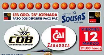 Letrero promocional del próximo encuentro del conjunto gallego (Foto: COB)