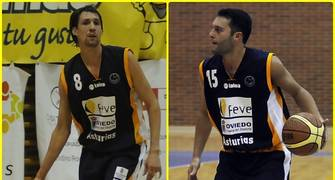 Agustín Prieto y Rubén Suárez seguirán en el Feve Oviedo (Foto: OCB)