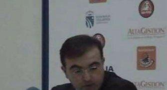 Moncho López explicando los motivos de la derrota