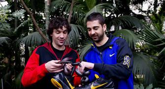 Llull y Navarro, con las Nike Zoom Kobe VI
