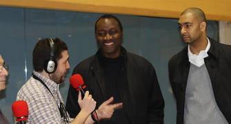 Lavodrama y Okulaja, en Radio Solobasket (Foto: Lafargue)