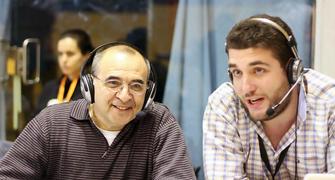 Paco Torres acompaño a Fran Guillén en la narración de la final (Foto: Lafargue)