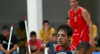 Sammy Monroe, MVP de la jornada valorando 45 (foto de César Borja para la web de Tenerife Baloncesto)