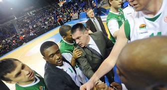 Tiempo muerto de Unics Kazan. Foto:victorsalgado.com