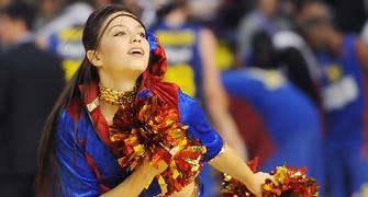Amanda durante un baile de las Dream Cheers. Foto:victorsalgado.com