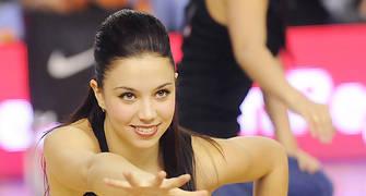 Amanda durante un baile de las Dream Cheers. Foto: victorsalgado.com