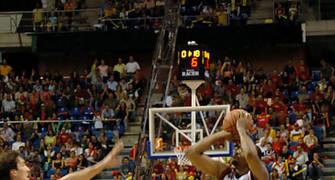 House lanza un triple lejano que fue decisivo para la victoria <u>Foto: José María Benito Espinar</u>