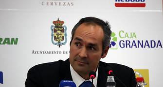 Curro Segura en la rueda de prensa.<br> Foto: Lourdes Getino