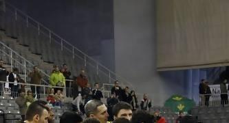 Los jugadores del Baloncesto León celebrando la victoria.<br> Foto: Lourdes Getino