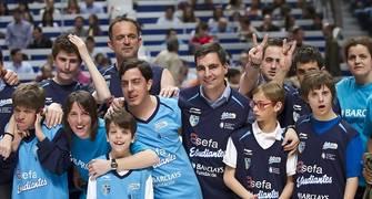 Fundación Estudiantes con la escuela de baloncesto de Pozuelo (Foto: Juan Carlos García Mate)