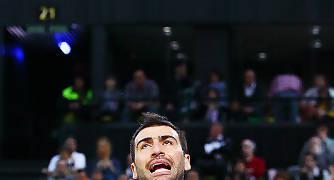 Vasileaidis se lamenta por un fallo (Foto: Luis Fernando Boo).