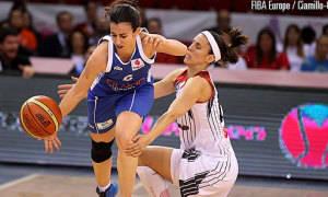 Silvia Dominguez vs Amaya Valdemoro (foto: fibaeurope)