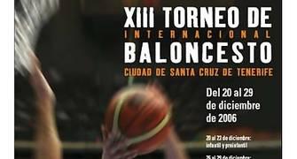 Cartel del XIII Torneo Internacional de Baloncesto Ciudad de Santa Cruz de Tenerife