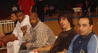 Solobasket formó parte del jurado en el concurso de mates junto a Joan Montes, Thomas Terrell, Damon Johnson y Roger Fornas (Foto: Solobasket.com)
