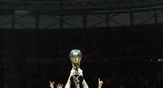Rudy, con el Trofeo de Campeones de Copa (Foto: JM Benito)