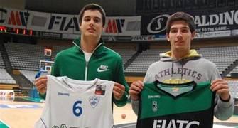 Sans y Abalde, primeros juniors de la Penya para el CB Prat (Foto Joventut)
