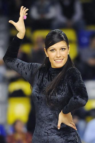 Brenda durante un baile de las Dream Cheers. Foto: victorsalgado.com