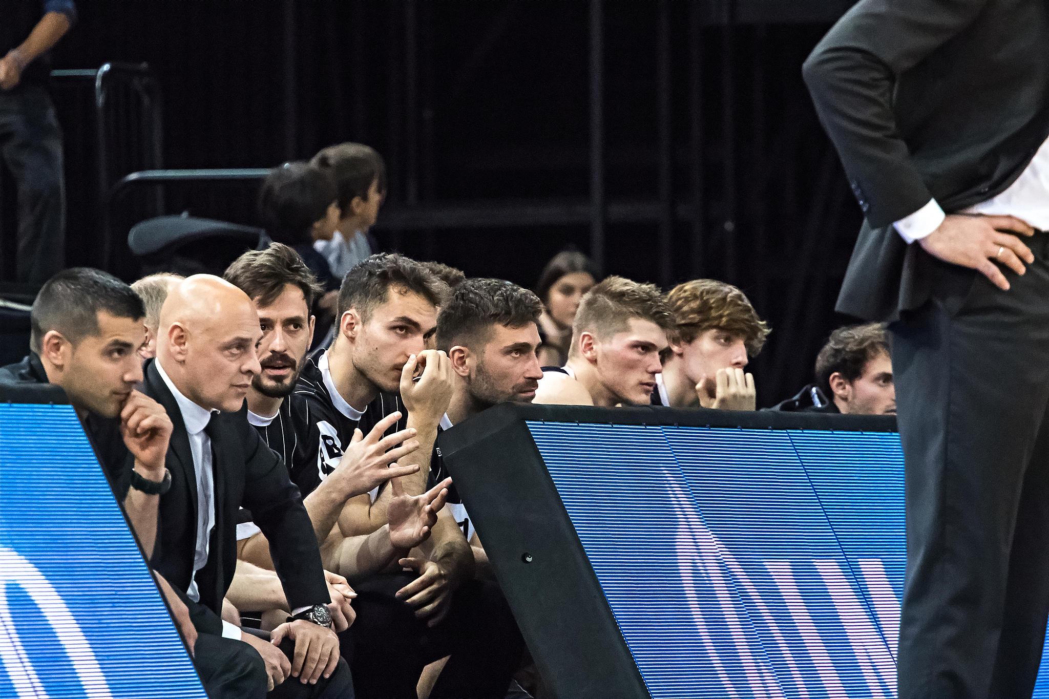 Banquillo del Bilbao Basket   |  Foto: Luis Fernando Boo.