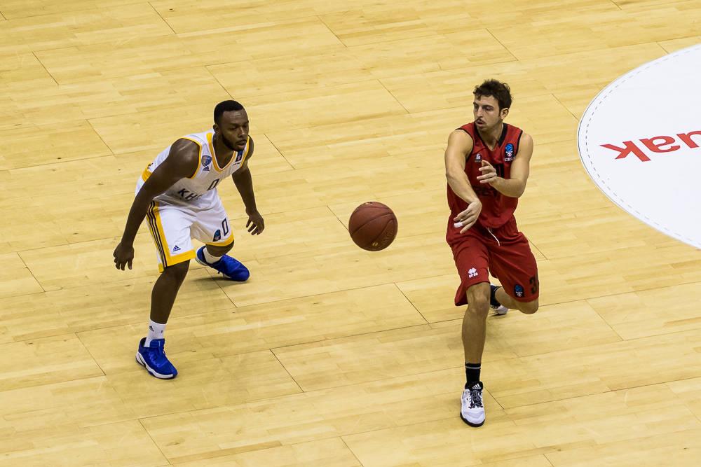 Sergio Llorente debutó con el Bilbao Basket (Foto: Luis Fernando Boo).