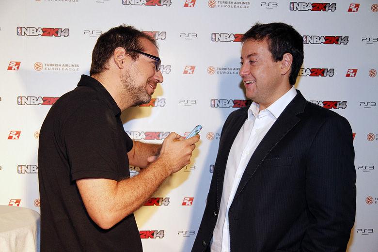 Gafipasta preguntó a Daimiel por su extensión de contrato . Foto : Rocío Benítez