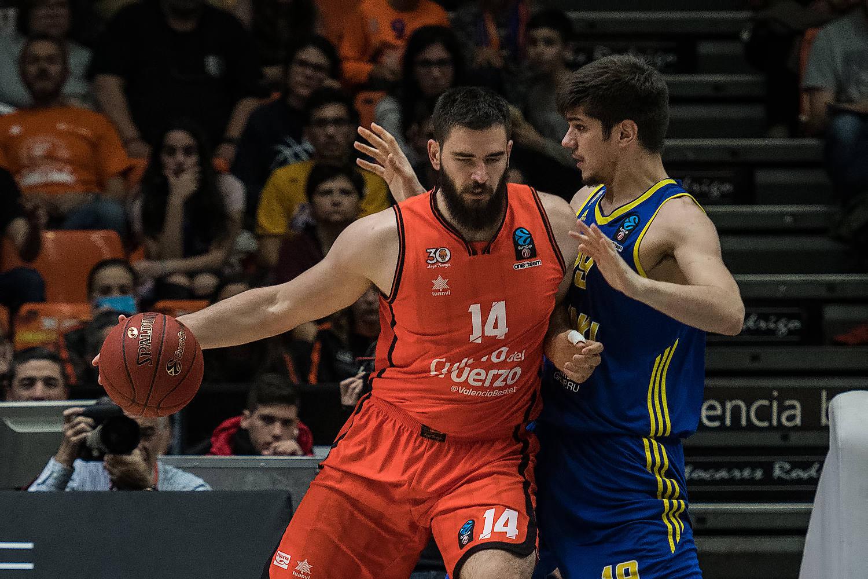 Bojan Dubljevic, importante para Valencia Basket. (JM Casares)
