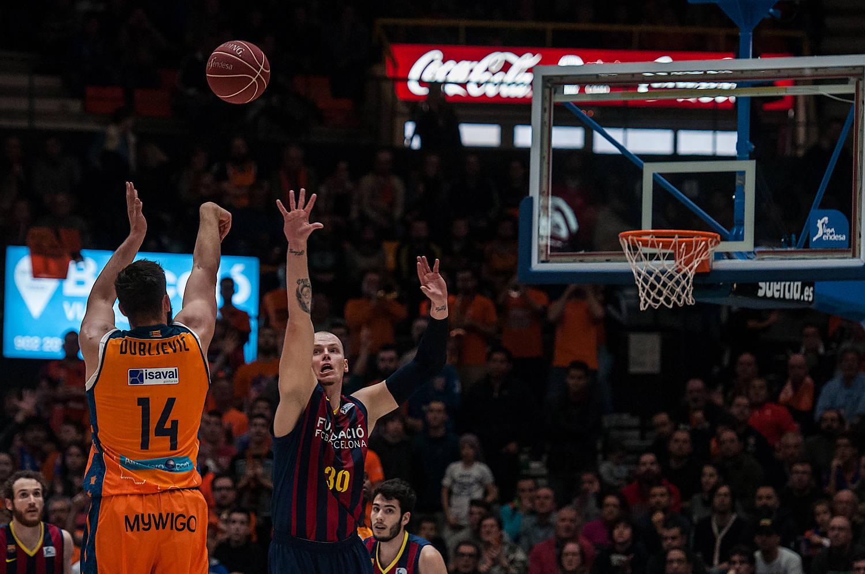 Triple final de Dubljevic. (JM Casares)