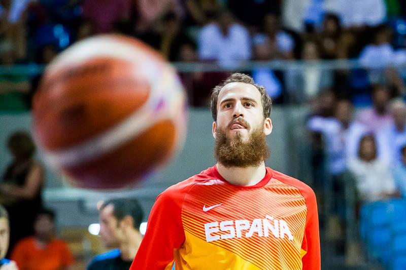 Sergio Rodríguez, en el calentamiento (Foto: Luis Fernando Boo).