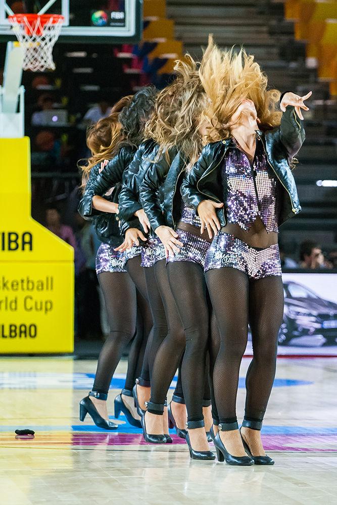 Tiempo muerto en el Bizkaia Arena (Foto: Luis Fernando Boo).