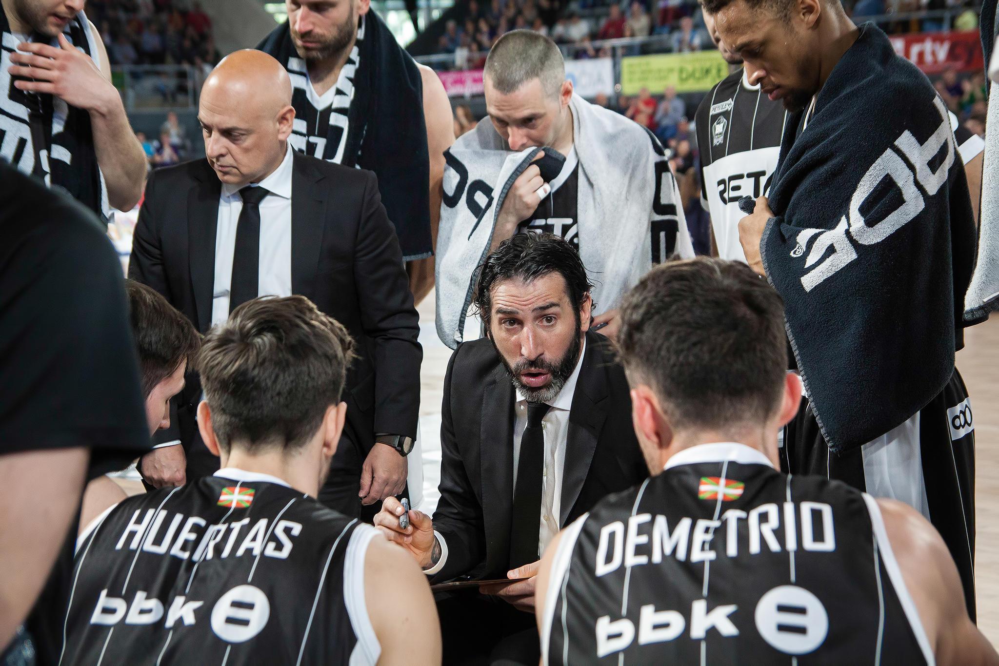 Tiempo muerto del Bilbao Basket  | Foto: Luis Fernando Boo.