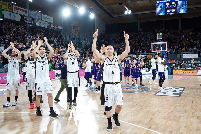 El Bilbao Basket celebra el triunfo | Foto: Luis Fernando Boo.