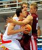 Pere Tomas consiguió un magnífico 25+11 para la victoria de España (foto FIBA Europe)