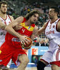 Pau Gasol ha estado atado en corto por la defensa turca (Foto FIBA/Castoria)