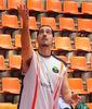 Francis Sánchez calentando (Foto: Pablo Romero)