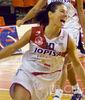 Lorena Infante celebra la victoria (foto: Chema Susilla/CB Ciudad de Burgos)
