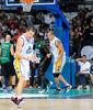 Uros Tripkovic celebrando un triple.<br> Foto: Charly Mula