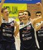 Hanley y Pérez, los héroes de la victoria del Oviedo Baloncesto (foto servicio de prensa OCB)